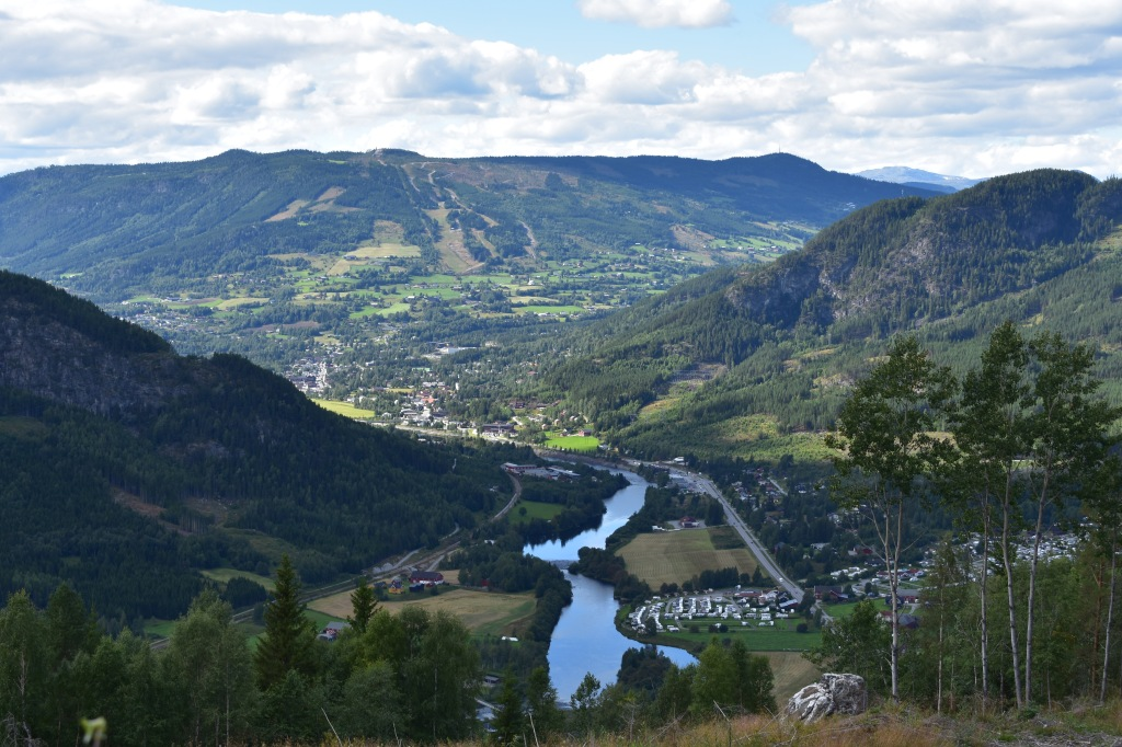 Gol Per-Huse view over Hallingdal